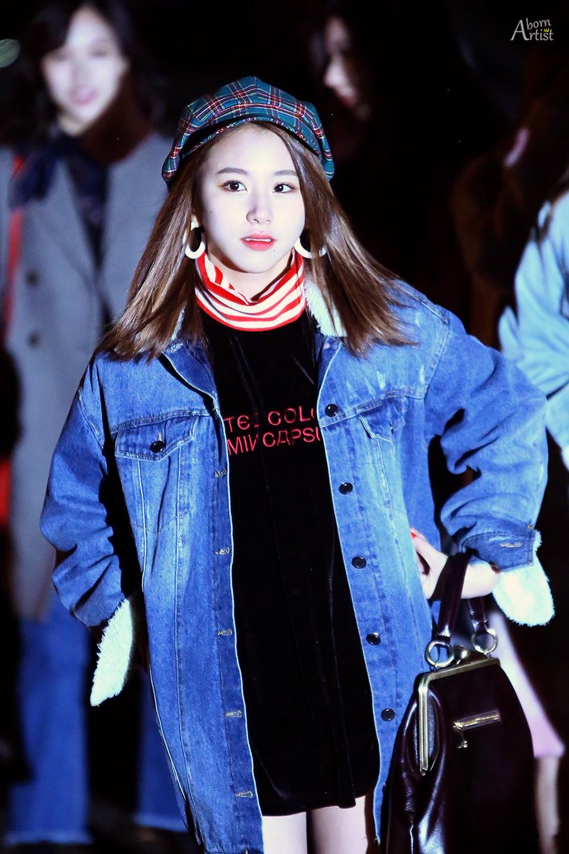 Chaeyoung在去音樂銀行的路上