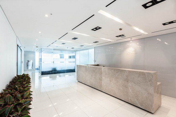 SM Entertainment Headquarter's front receptionist office. / Instiz