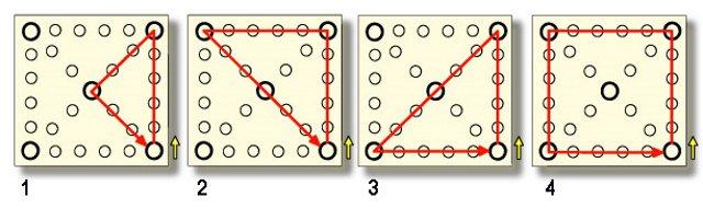 傳統遊戲-擲柶-棋盤