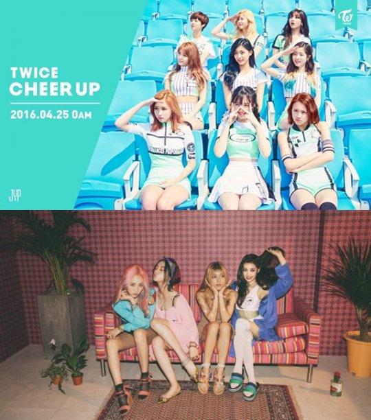 TWICE、Wonder Girls