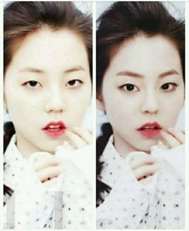 Айдолы без макияжа фото до и после