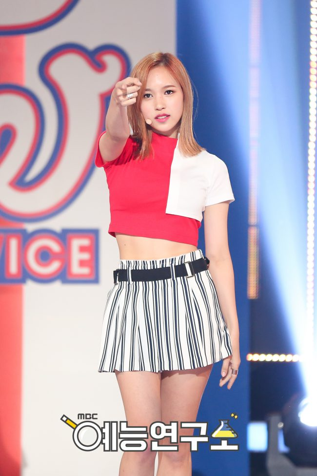 Mina's killer abs are to die for.