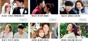 """2014 SBS演技大賞""""最佳情侶獎""""候補公開:競爭空前激烈"""
