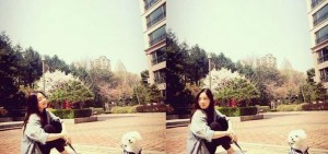 少女時代泰妍公開與愛犬一同踏春的照片