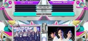「音樂銀行」EXO戰勝A Pink 獲得新年首個第一