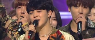 「人氣歌謠」防彈少年團首捧獎盃 向粉絲們表達謝意「 因為粉絲們獲得第一 」