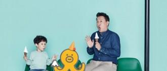鄭埻夏攜兒子拍廣告 可愛面貌吸視線