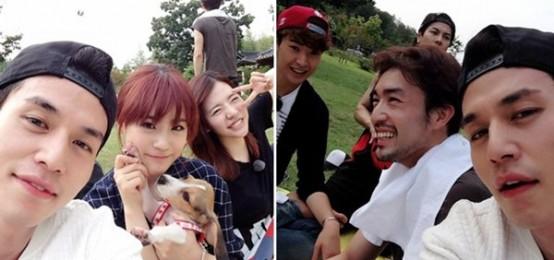 李棟旭秀《Roommate》第二季拍攝照 和新成員開心去野餐