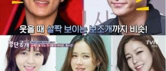 《名單》盤點長相相似的韓國明星 周元姜棟元相似度90%居首