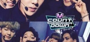 《M COUNT DOWN》公開EXO現場錄製照 XUIMIN囧字臉很喜感