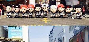 明洞街頭驚現EXO 竟是…惹的禍?