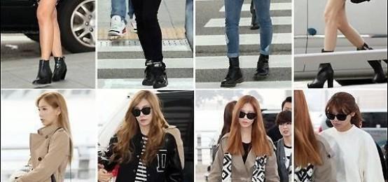 少女時代Jessica微博宣稱被通報退團,少時其他8位成員出現在機場,表情凝重