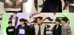 "EXO-Super Junior-M上演女團舞蹈大對決 SUHO""妖嬈""模仿AOA貓步舞蹈"