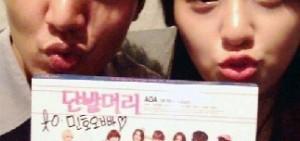 李敏鎬投入電影拍攝 和AOA雪炫拍′兄妹′嘟嘴照