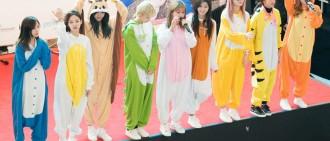 Twice在最近的粉絲見面會中穿上可愛的動物服飾