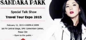 朴山多拉參加菲律賓最大旅遊博覽會特別單獨脫口秀