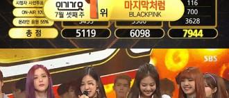 《人歌》BLACKPINK奪冠 連續3週捧得獎杯