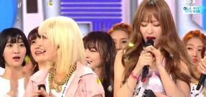 女子組合EXID憑借「Ah Yeah」獲得「人氣歌謠」冠軍