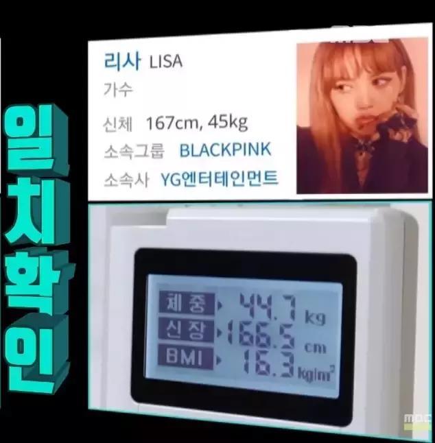 女明星真實體重曝光! BLACKPINK的Lisa竟然比官方體重還輕?