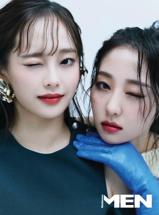 組圖:本月少女Chuu與Yves攜手登雜誌 藍色系色彩風格明亮