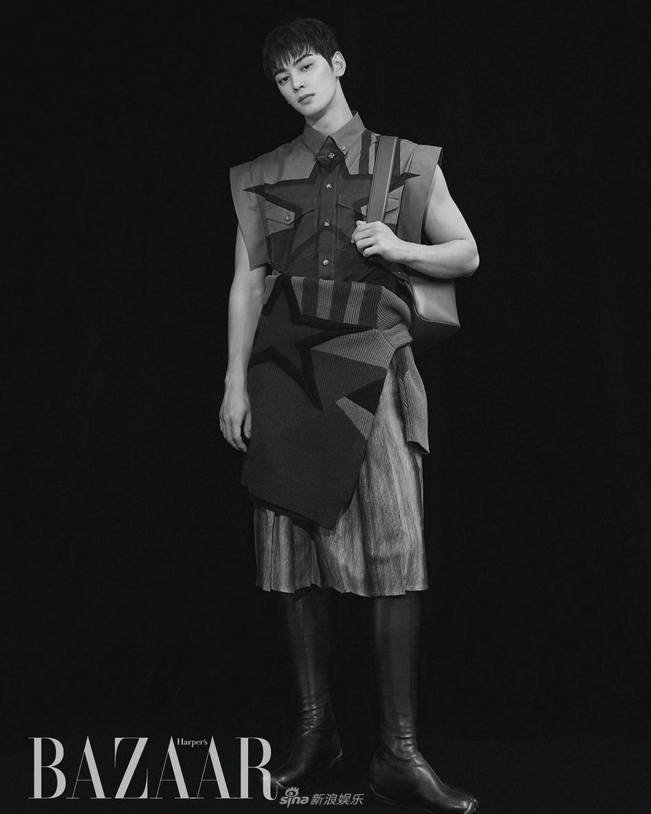 組圖:車銀優登韓版《芭莎》銀十封面 三七分髮型減顏值
