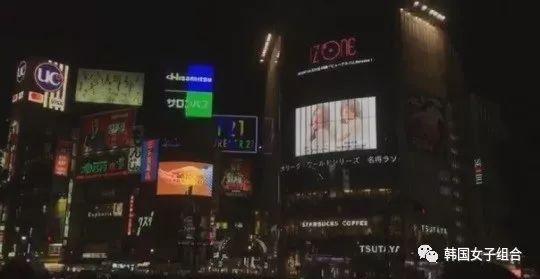 女團出道第一天,開啟日本戶外大屏幕宣傳! 佔領東京市中心位置