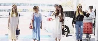 女團機場時尚也有站位?她們之間的距離為什麼這麼完美?