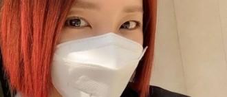 紅色短髮又美又颯!原2NE1成員Sandara曬全新短髮造型