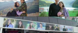 賀開播1周年兼官宣戀情 《愛的迫降》劇迷巴士車身登廣告