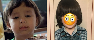 威廉IG公開SAM爸童年照 兩父子似足餅印連髮型都一樣