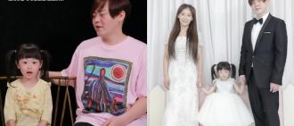 文熙俊與囡囡從《超回》下車 一家三口著禮服再演婚禮