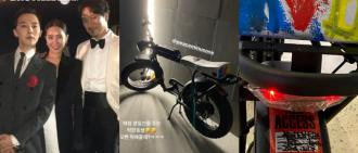 GD與家姐姐夫齊慶生 為金敏俊送上親自噴漆電動單車做禮物