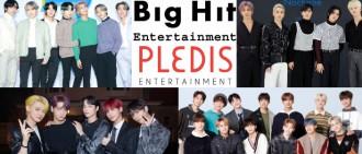 Big Hit公司確定收購Pledis娛樂 正式宣布一家親!