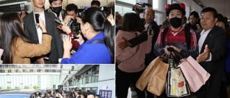 《RM》8成員來港巡演 半百粉絲機場蜂擁場面混亂