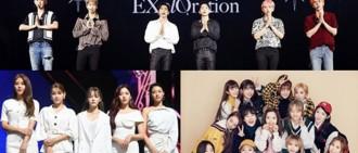 即將回歸EXO及宇宙少女AOA等藝人紛更改行程 悼念離世具荷拉