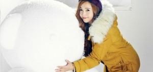 "Jessica為品牌SOUP拍攝廣告畫報公開,變身冬日天使如此美麗""凍人""!"