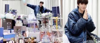 演《女神降臨》爆紅後首個生日 30歲黃寅燁粉絲禮物堆滿房