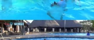 《花樣青春》朴寶劍柳俊烈脫掉內褲后裸體畢露 水中玩瘋了的男男CP...