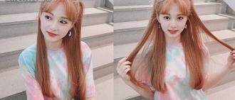 TWICE子瑜新髮色曝光 仙氣十足超顯白