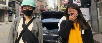 Hani買頭盔偶遇粉絲 合照保持安全社交距離網民大讚可愛
