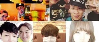 【韓星微博】光熙、SUHO爲彼此喊加油 李起光偷拍尹斗俊吻戲