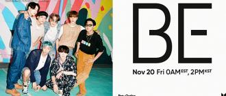BTS確定11月以新專輯《BE》回歸 成員親自參與製作