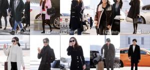 韓星飛香港參加MAMA時的機場時尚,大褸真的是必備