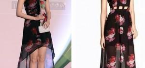 IU穿平價禮服出席活動 品牌與姜素拉禮服相同