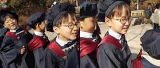 大韓民國萬歲幼稚園畢業了!學生代表民國上台發言超可愛