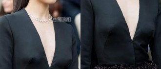 Victoria 最近出朗巴黎時裝展的低胸突點相片受到瘋傳