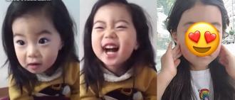 6年前紅爆網路的「餅乾小女孩」暴風成長變身少女