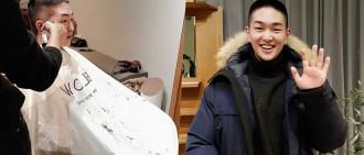 SHINee溫流今入伍 平頭照、手寫信公開「想我就聽我的歌聲吧」