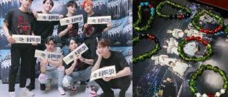 GOT7直播全員戴綠色手鏈 原來是心臟畸形粉絲親手製禮物!