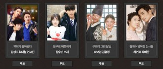 2016《KBS 演技大賞》情侶獎入圍名單
